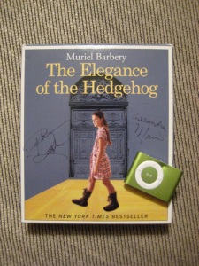 The Elegance of the Hedgehog Audiobook with my Shuffle